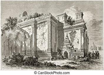Bagan temple - Temple in Bagan, Burma. Created by Lancelot...
