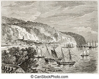 Saint-Pierre - Saint Pierre old view, Martinique. Created by...