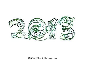 2013 year number quilling handmade