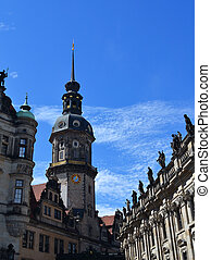Tower Haussmann St George Palace in Dresden