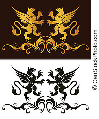 Background heraldry decoration Vector illustration