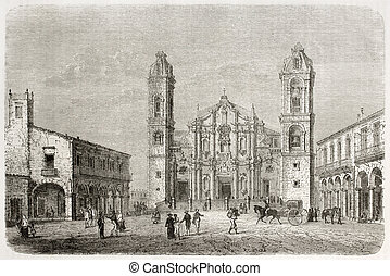 Havana Cathedral - Cathedral of Havana old view, Cuba....