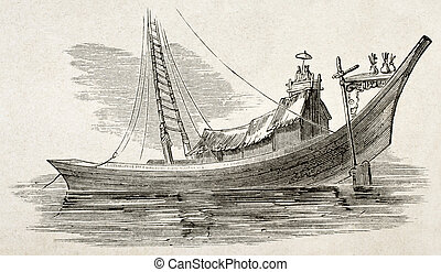 Burmese commercial craft old illustration. By unidentified...