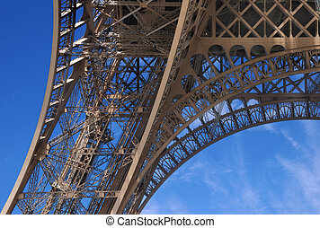 Ironwork. - Basic column of Eiffel tower. Paris, France