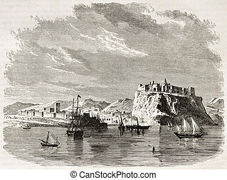 Rabat old view, Morocco. Created by De Berard, published on...