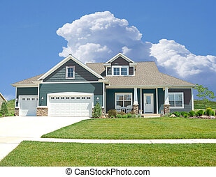 Suburban Home - A beautiful vinyl siding home in the suburbs...