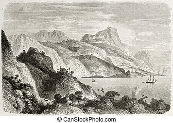 Jamaica - Old view of Saint Ann bay, Jamaica Created by...