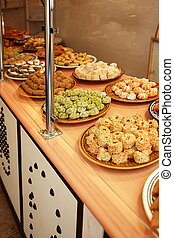 Patisserie - Variety of delicious petit fours in French...