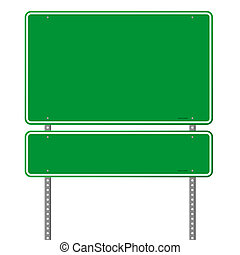 Green Blank Roadsign - Square roadsigns in green color tones...