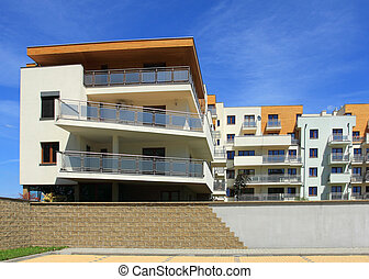 Apartment building - Modern apartment building Freshly...