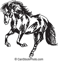 Stallion Sketch Vector illustration