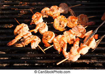 Korean style jumbo shrimp barbeque - Fresh Jumbo shrimp...