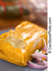 Peruvian Tamale - Peruvian tamale (traditionally eaten for...