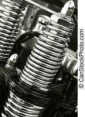 motorcycle springs - chromed motorcycle suspension springs...