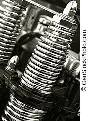 motorcycle springs - chromed motorcycle suspension springs...
