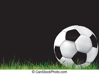 Soccer background with ball - Football background. Soccer...