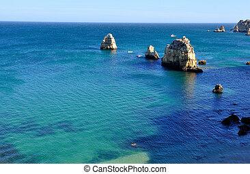 Ponta da Piedade, Algarve, Portugal - Seascape of Ponta da...