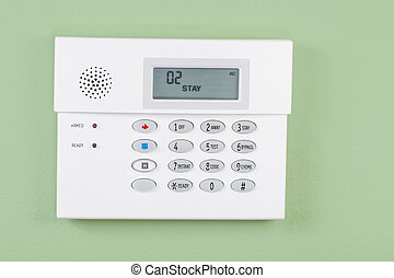 Home Security System Activated - Home security alarm system...