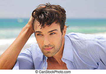 Handsome man - Outdoor portrait of a great looking...