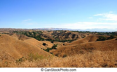 Anza Loop Panorama - View of sky and rolling hills,...