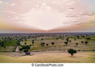 khuri dunes in thar desert near jaisalmer in rajasthan state...