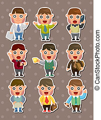 office businessman stickers