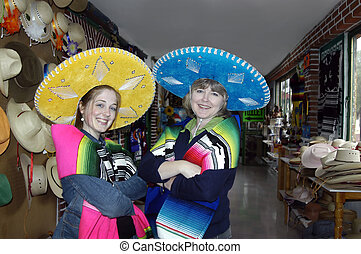 Always a Tourist - Mother and daughter model Mexican...