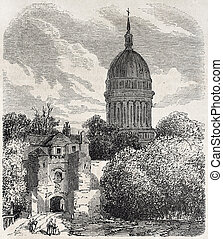 Notre-Dame de Boulogne - Old view of the dome of Notre-Dame...