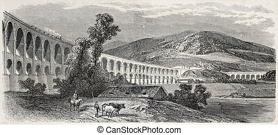 Frunzensdorf viaduct - Old illustration of Frunzensdorf...