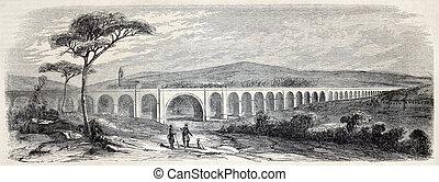 Nabresina viaduct - Old illustration of Nabresina viaduct...