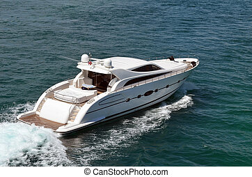 Upscale Cabin Cruiser - Luxurious cabin cruiser on the...