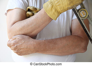 painful elbow on workman - worker is unable to continue his...