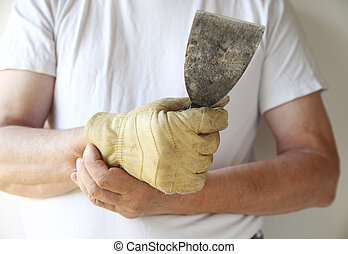 man working with a painful wrist