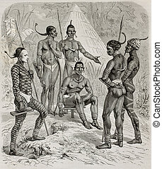 Native africans - Native Africans of right bank of white...