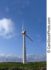 Big Island Power - Huge wind turbine generates power at...