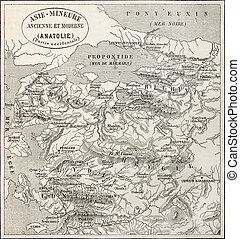 Anatolia old map - Old map of Anatolia Created by Erhard and...