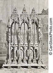 Saint Sebald shrine - Old illustration of St Sebalds shrine...