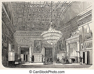 Dressing room - Old illustration of dressing room in Palais...