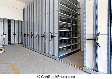 automatizado, estantería, Sistema