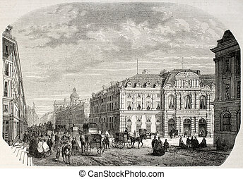 Civic centre - Old illustration of IV arrondissement Civic...