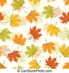 Maple Leaf Seamless Background