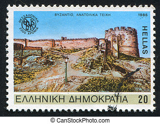 Salonika - GREECE - CIRCA 1985: stamp printed by Greece,...