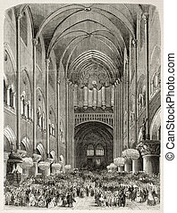 Notre Dame organ - Old illustration of new organ...