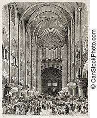 Notre Dame organ - Old illustration of new organ...