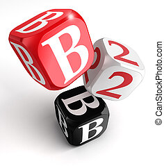 b2b red white black blocks - b2b red white black box on...