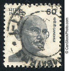 Mahatma Gandhi - INDIA - CIRCA 1974: stamp printed by India,...