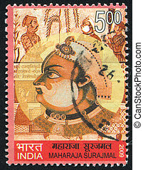 Maharaja Surajmal - INDIA - CIRCA 2009: stamp printed by...