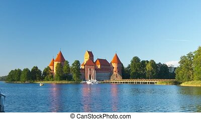 Trakai Castle, Lithuania, timelapse in motion