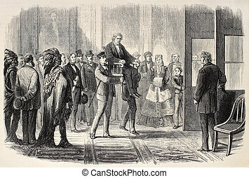 Stevens - Old illustration of Thaddeus Stevens helped to...