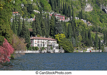 landscape of lake Como - landscape with Villa...